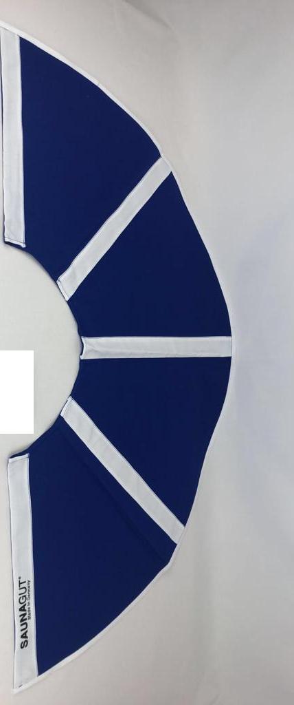 003-ES-AFS-BLW | Ersatzstoff Aufgussfächer STANDARD Blau-Weiß