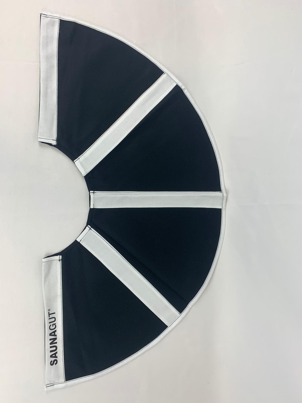 003-ES-AFS-DBW | Ersatzstoff Aufgussfächer STANDARD Dunkelblau-weiß