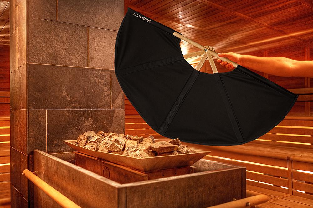 Aufgussfächer STANDARD Soffbezug-Farbe: Schwarz