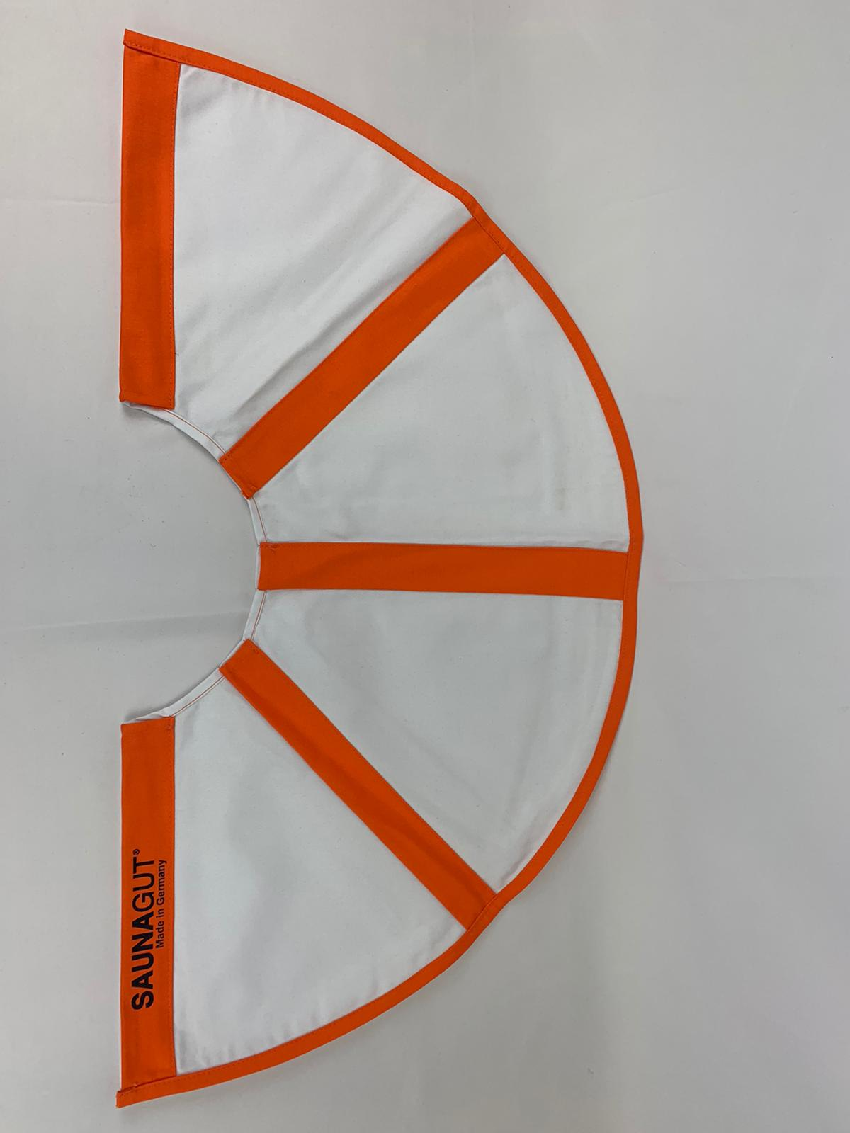 006-ES-AFK-WO | Ersatzstoff Aufgussfächer MINI/KLEIN Weiß-Orange