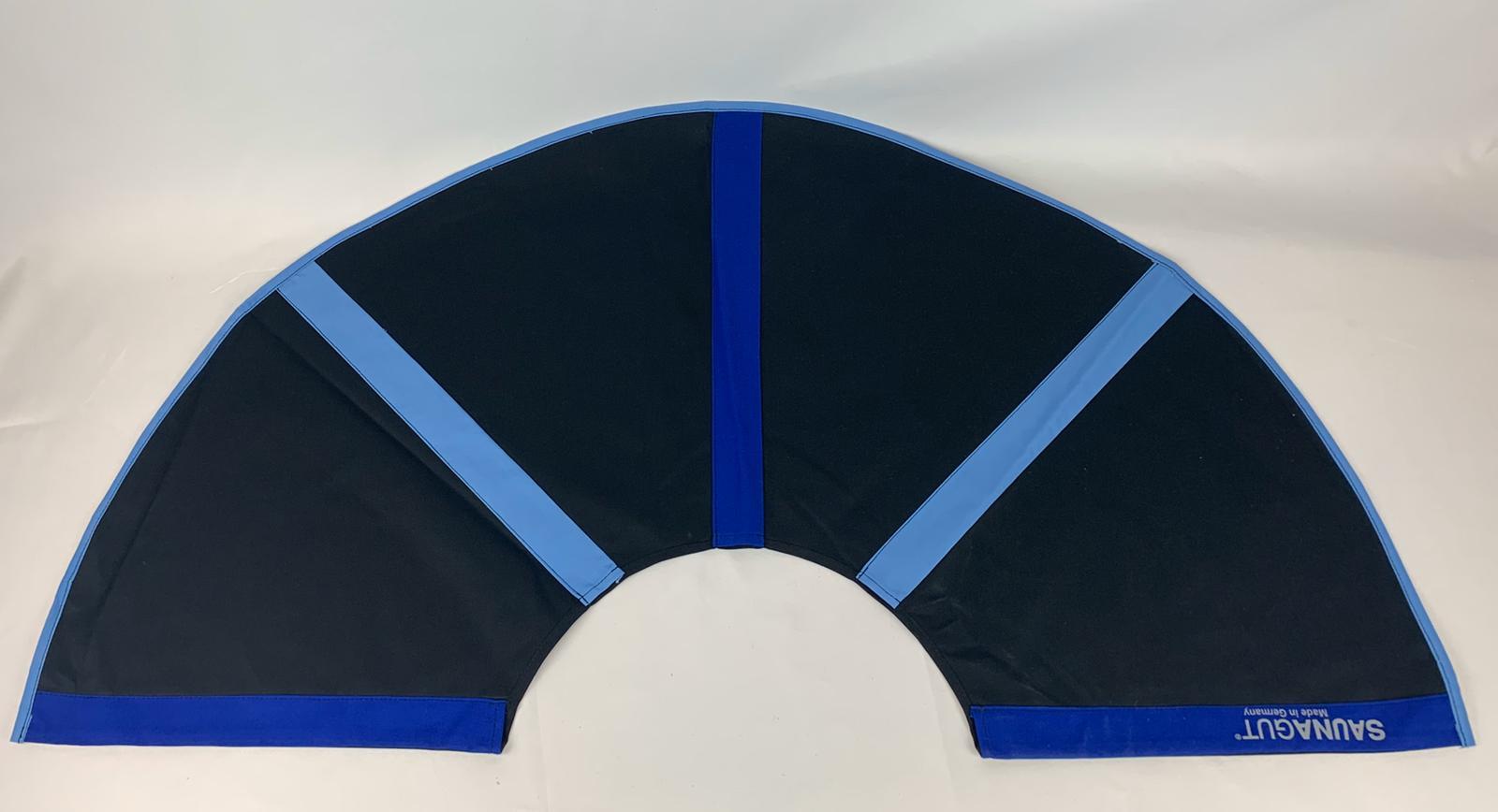 003-ES-AFS-SDBHBL   Ersatzstoff Aufgussfächer STANDARD Schwarz-Dunkelblau-Hellblau