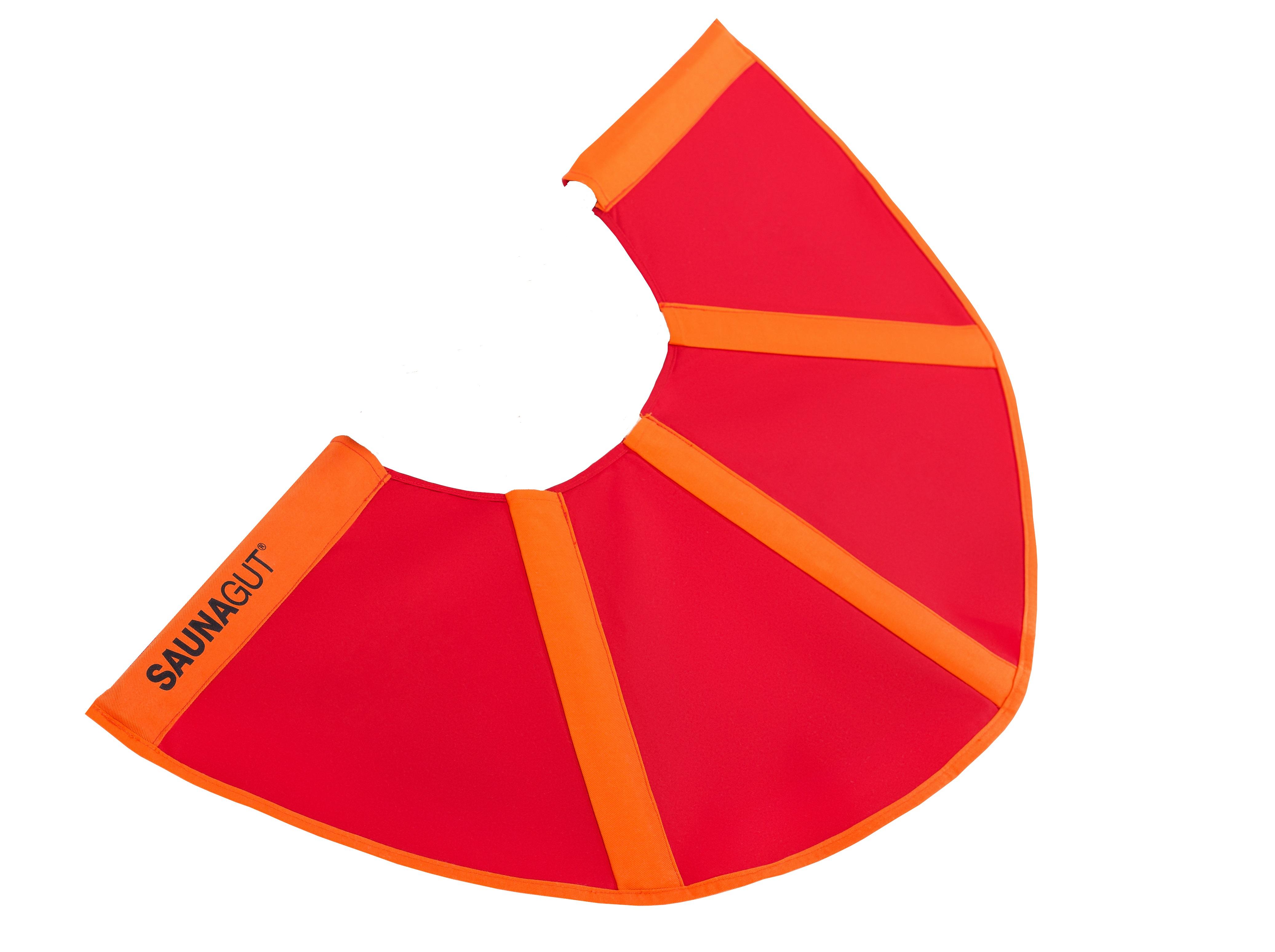 Ersatzstoffbezug für Aufgussfächer Mini (KLEIN) Farbe: Rot/Orange