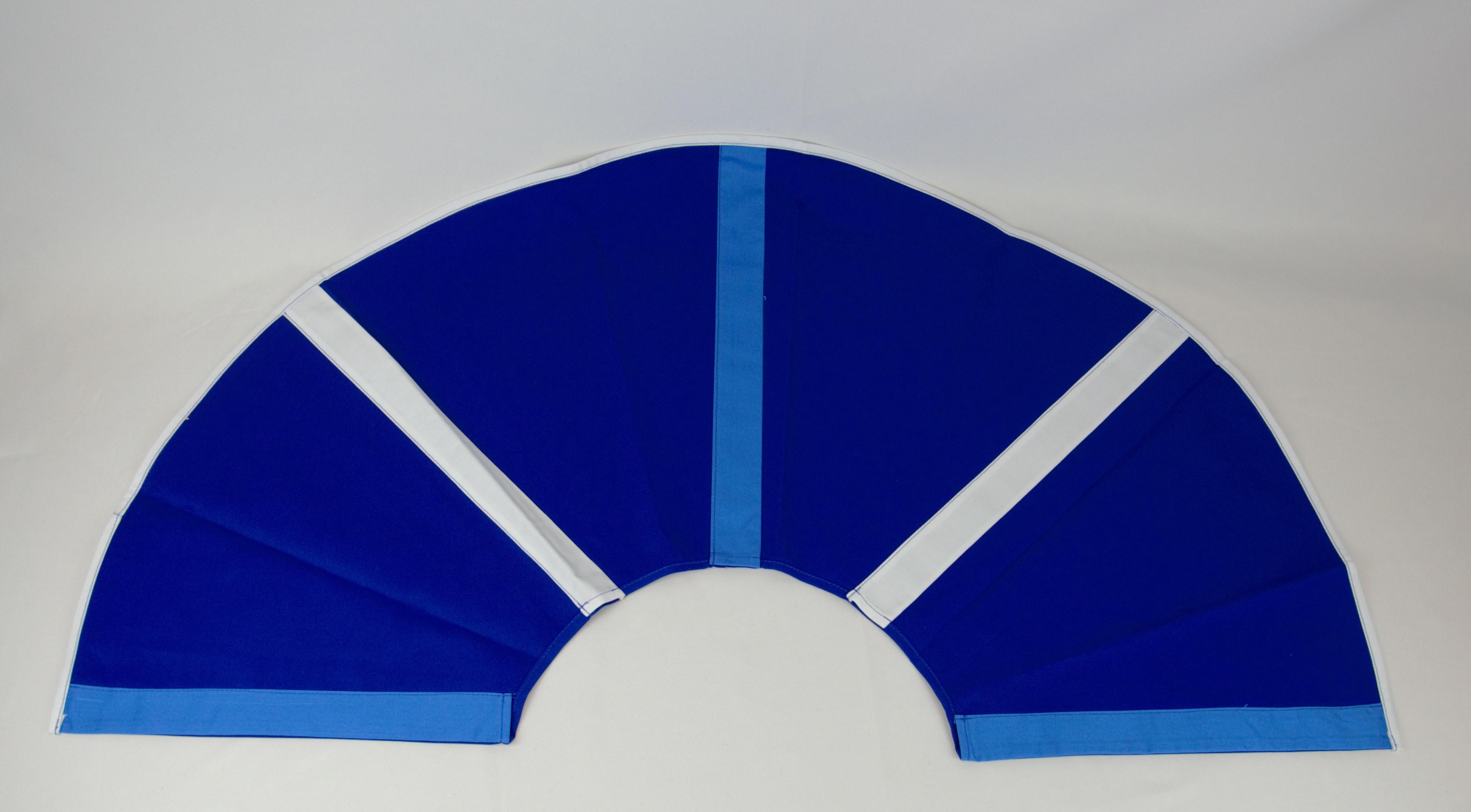 003-ES-AFS-BHBW | Ersatzstoff Aufgussfächer STANDARD Blau-Hellblau-Weiß